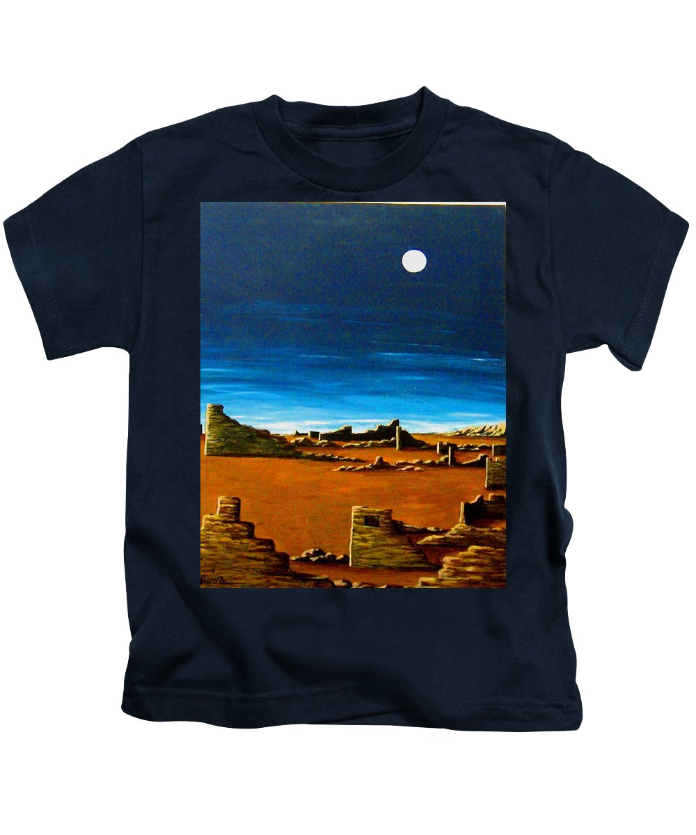 Anasazi Kids T-Shirt featuring the painting Timeless by Diana Dearen