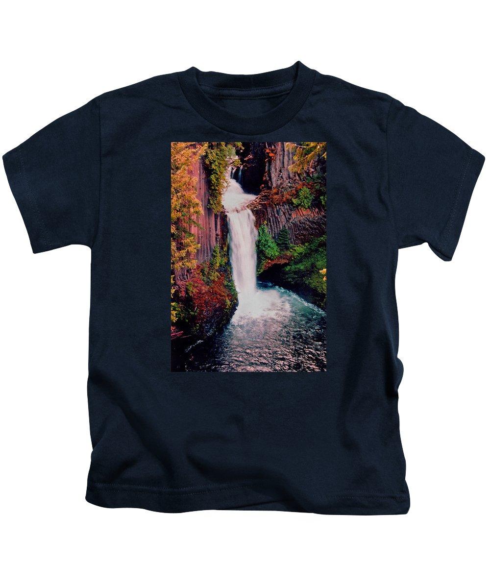 Tokeetee Waterfall Kids T-Shirt featuring the photograph Tokeetee Falls by Martin Massari