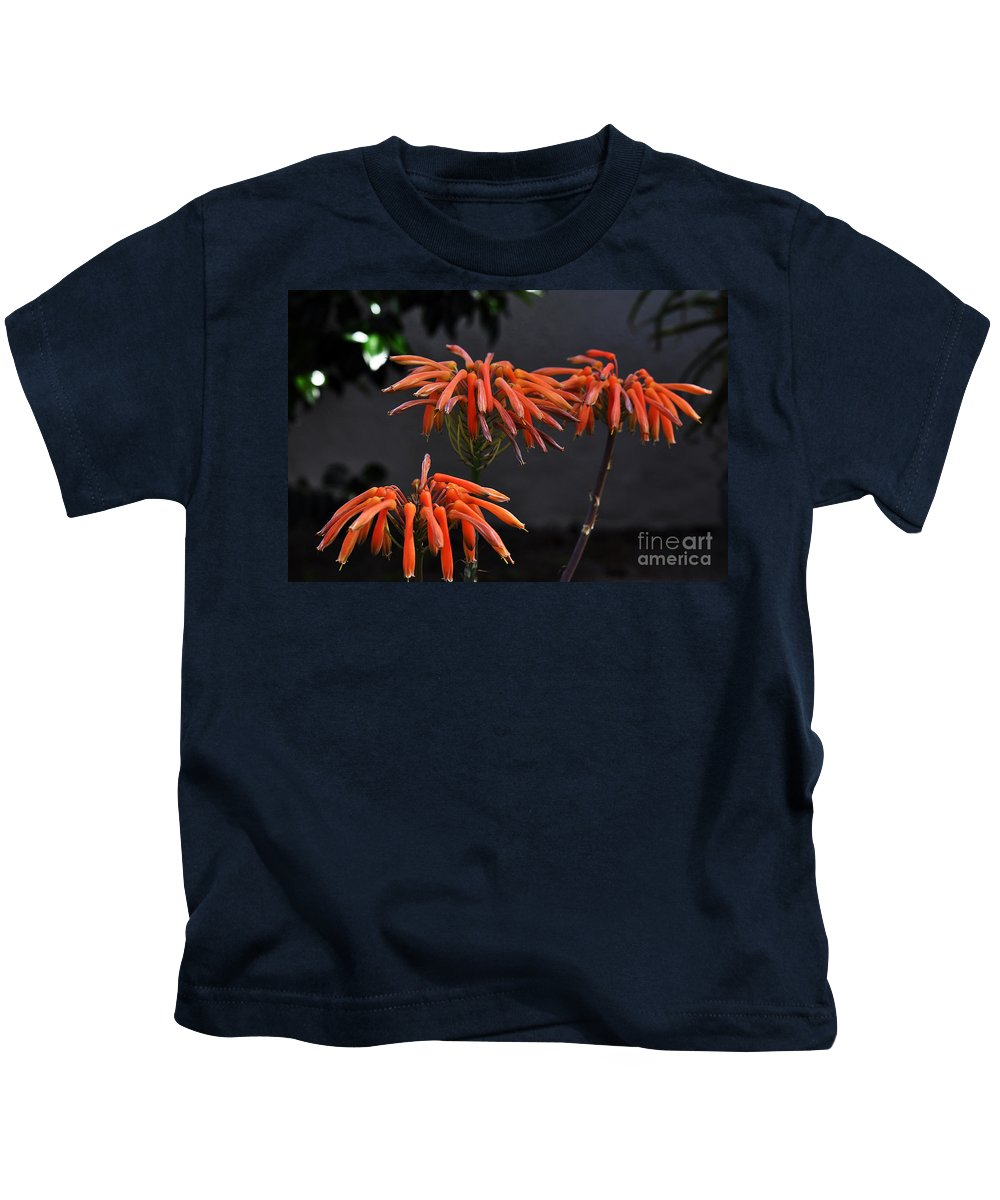 Clay Kids T-Shirt featuring the photograph Top Of Aloe Vera by Clayton Bruster