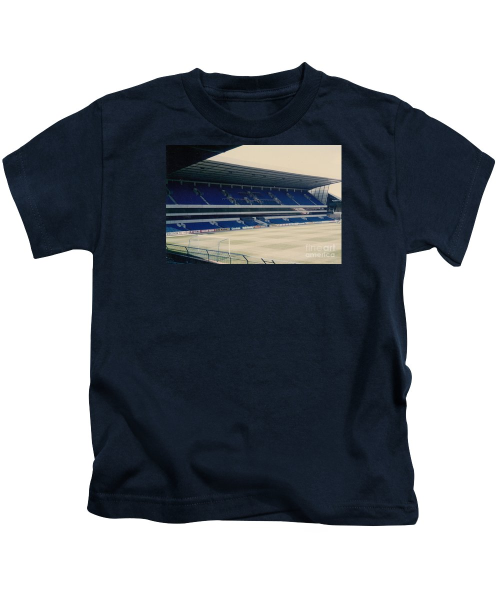 Kids T-Shirt featuring the photograph Tottenham - White Hart Lane - West Stand 3 - 1980s by Legendary Football Grounds