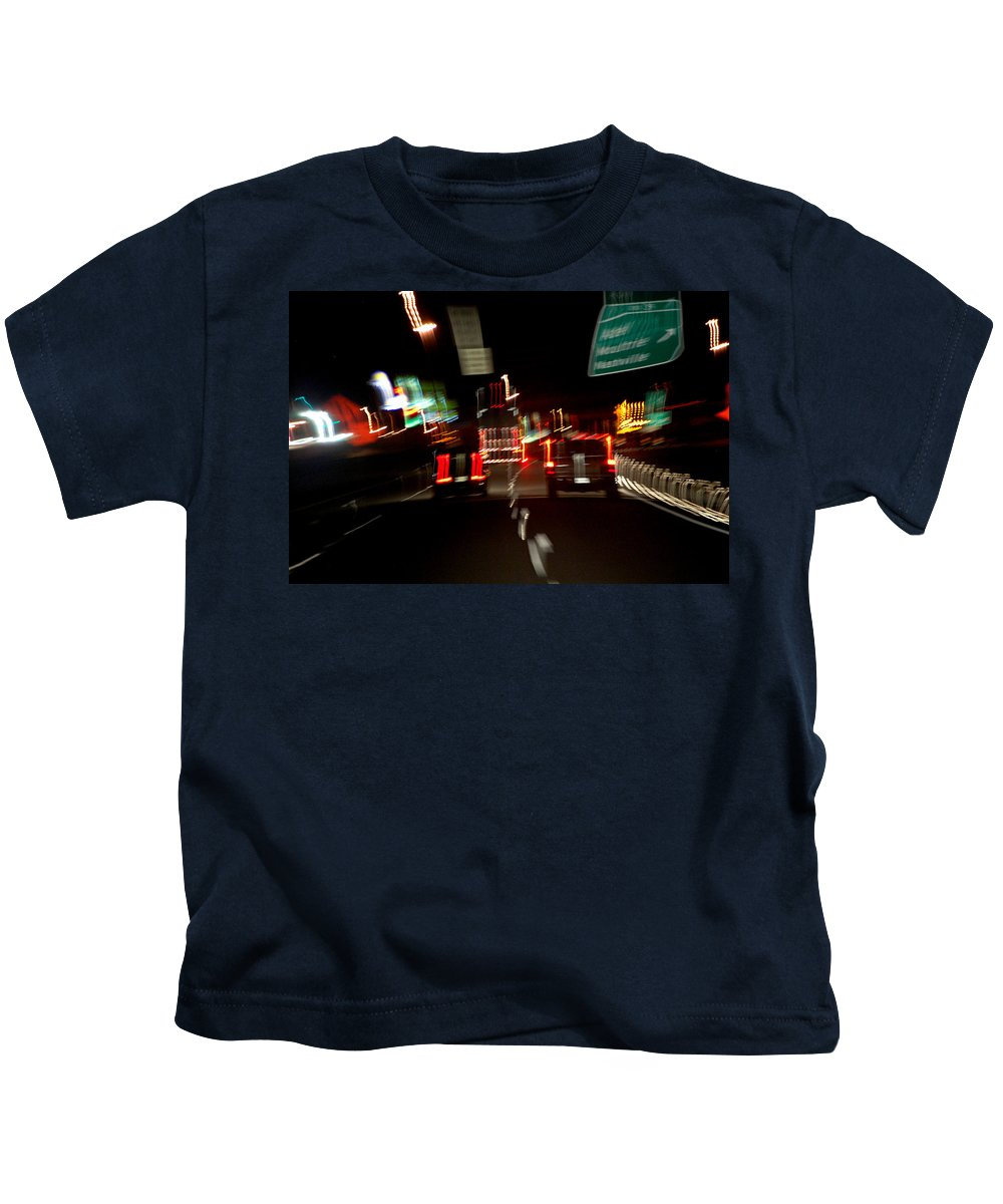 Cars Kids T-Shirt featuring the photograph Traffic by Robert Meanor