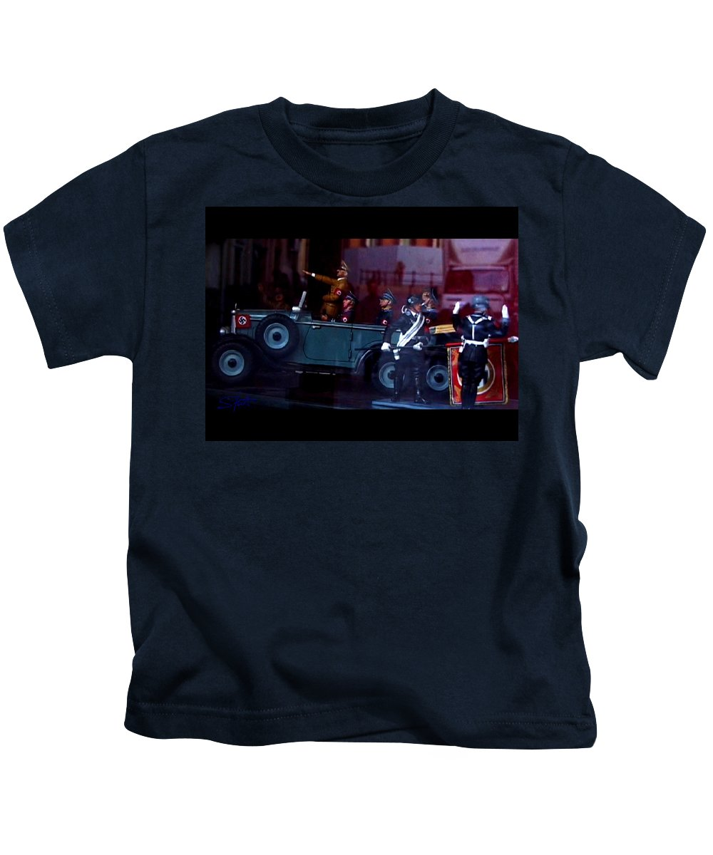 Dream Kids T-Shirt featuring the photograph Triumph In Miniture by Charles Stuart