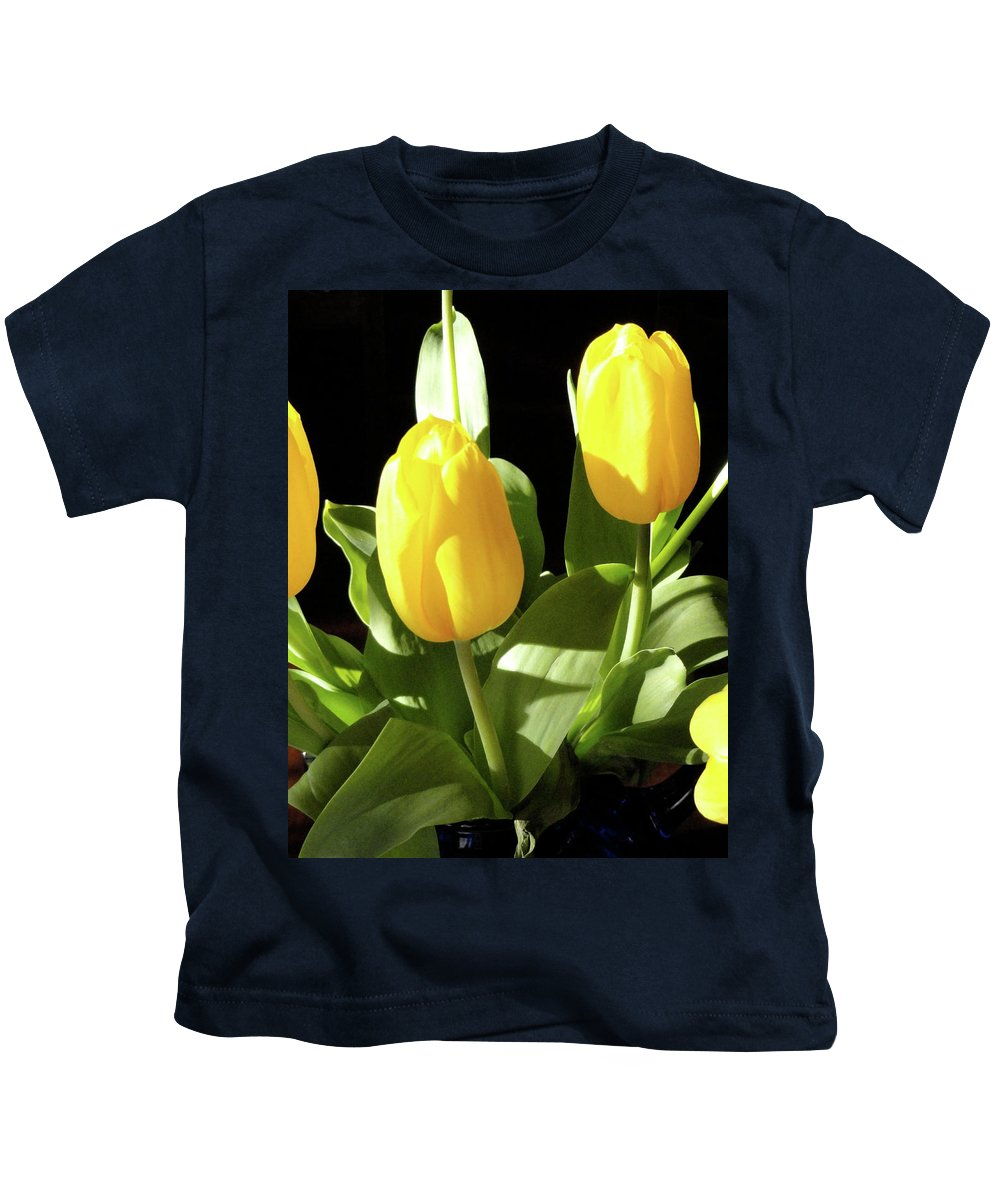 Yellow Kids T-Shirt featuring the photograph Two And A Half by Shannon Grissom