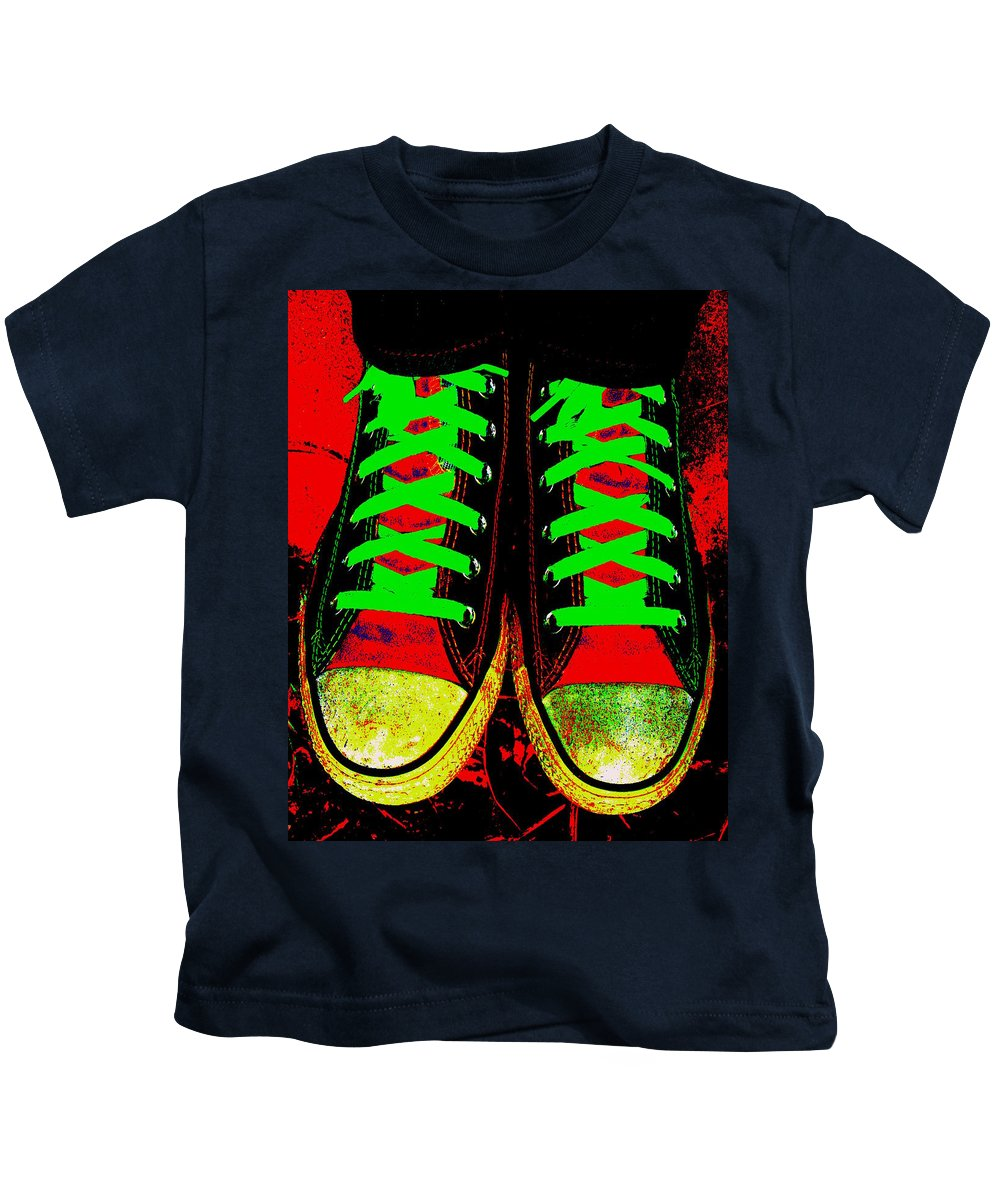 Still Life Kids T-Shirt featuring the photograph Two Left Feet by Ed Smith