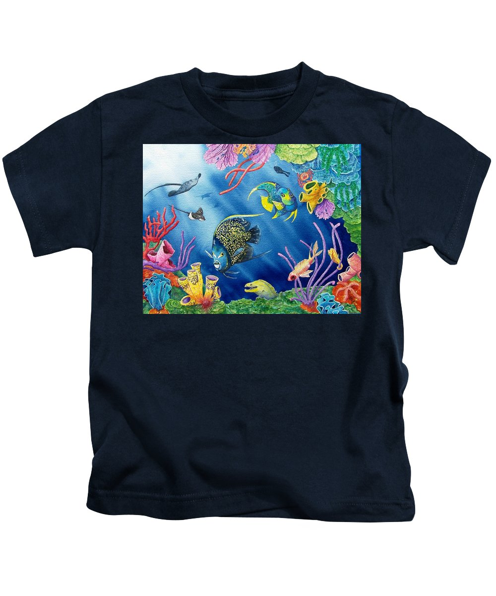 Undersea Kids T-Shirt featuring the painting Undersea Garden by Gale Cochran-Smith