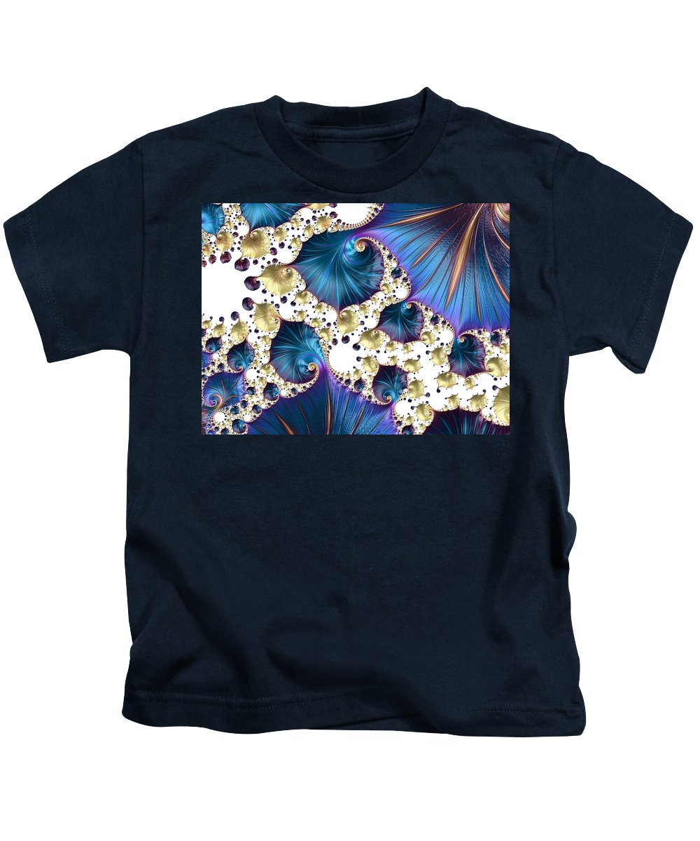 Abstract Kids T-Shirt featuring the photograph Underwater World - Series Number 5 by Barbara Zahno