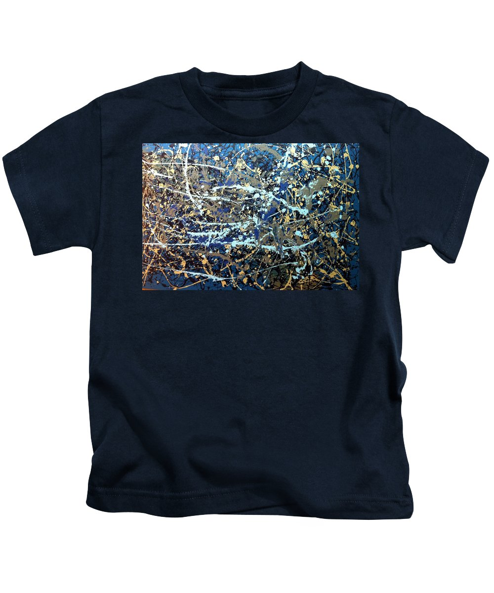 Movement Kids T-Shirt featuring the painting Une Tempete by Solenn Carriou