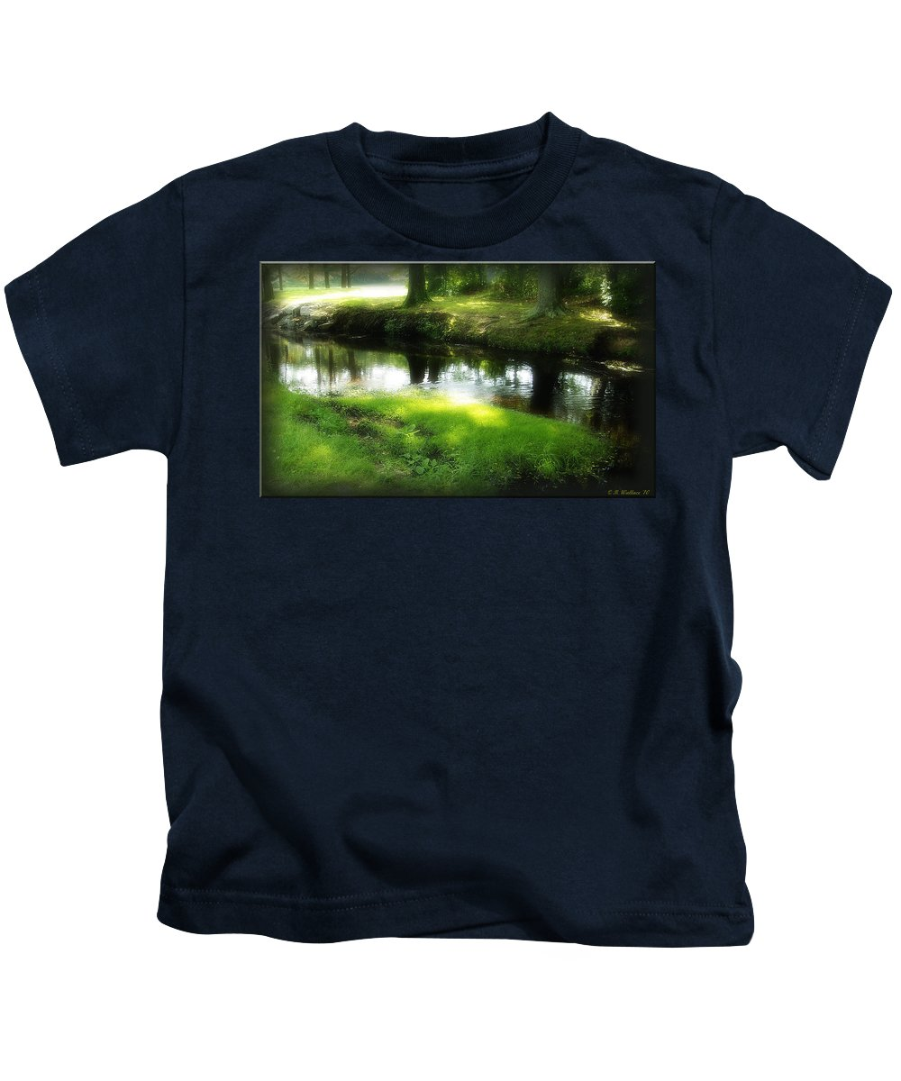 2d Kids T-Shirt featuring the photograph Unicorn Stream by Brian Wallace