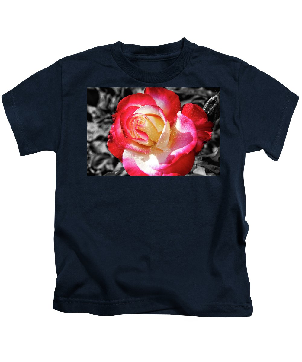 Unity Rose Kids T-Shirt featuring the photograph Unity Rose by Mariola Bitner
