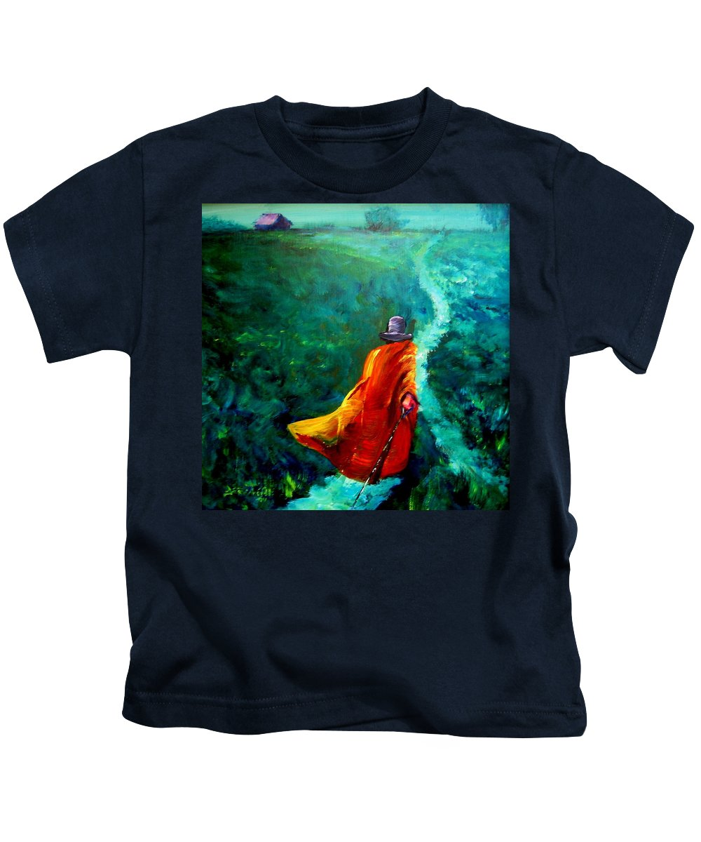 Expressionist Kids T-Shirt featuring the painting Up That Hill by Jason Reinhardt