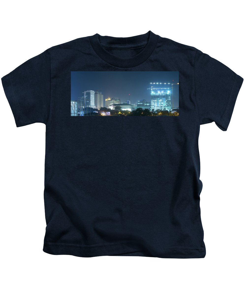 Insogna Kids T-Shirt featuring the photograph Up Town Cebu City Lights by James BO Insogna