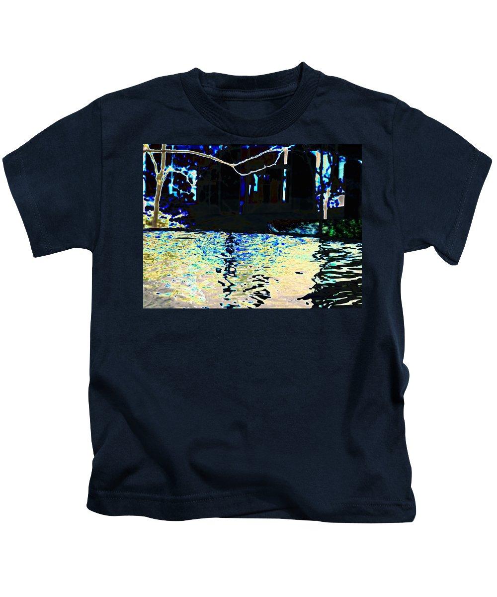 Seattle Kids T-Shirt featuring the photograph Urban Waterfall by Tim Allen