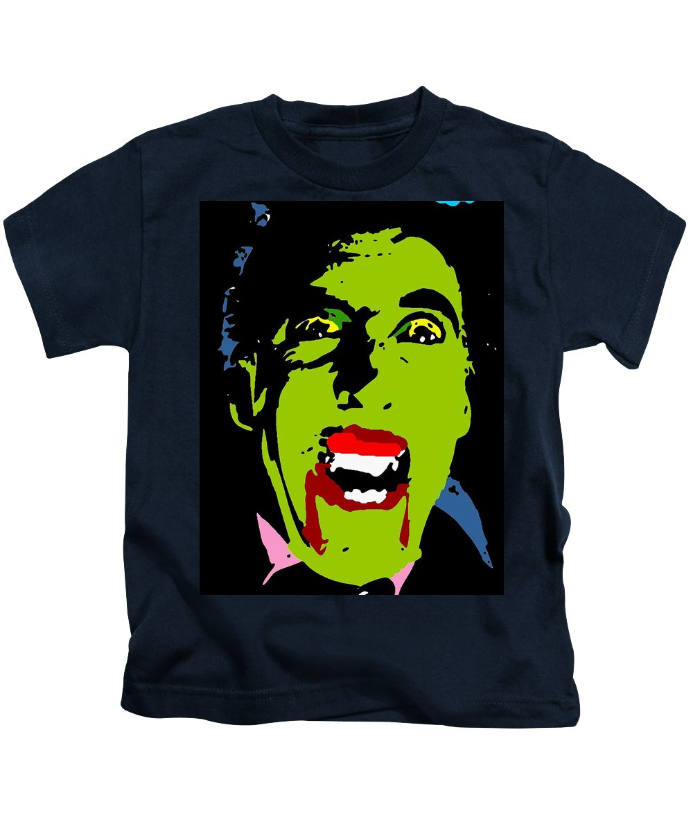Blood Kids T-Shirt featuring the painting Vampire by Paul Van Scott