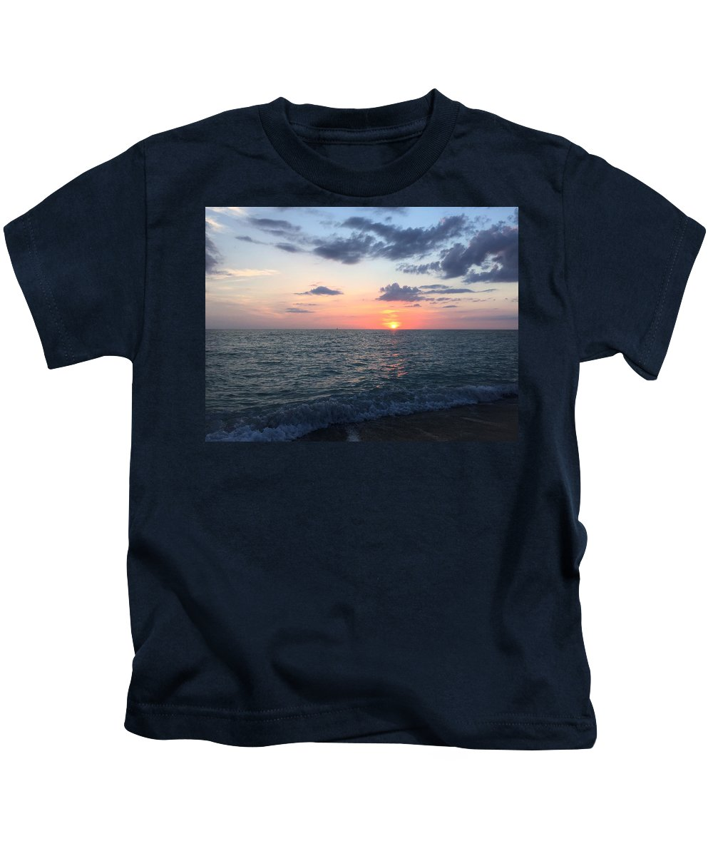 Beach Landscape Kids T-Shirt featuring the photograph Venice Florida Sunset by Julia Breheny