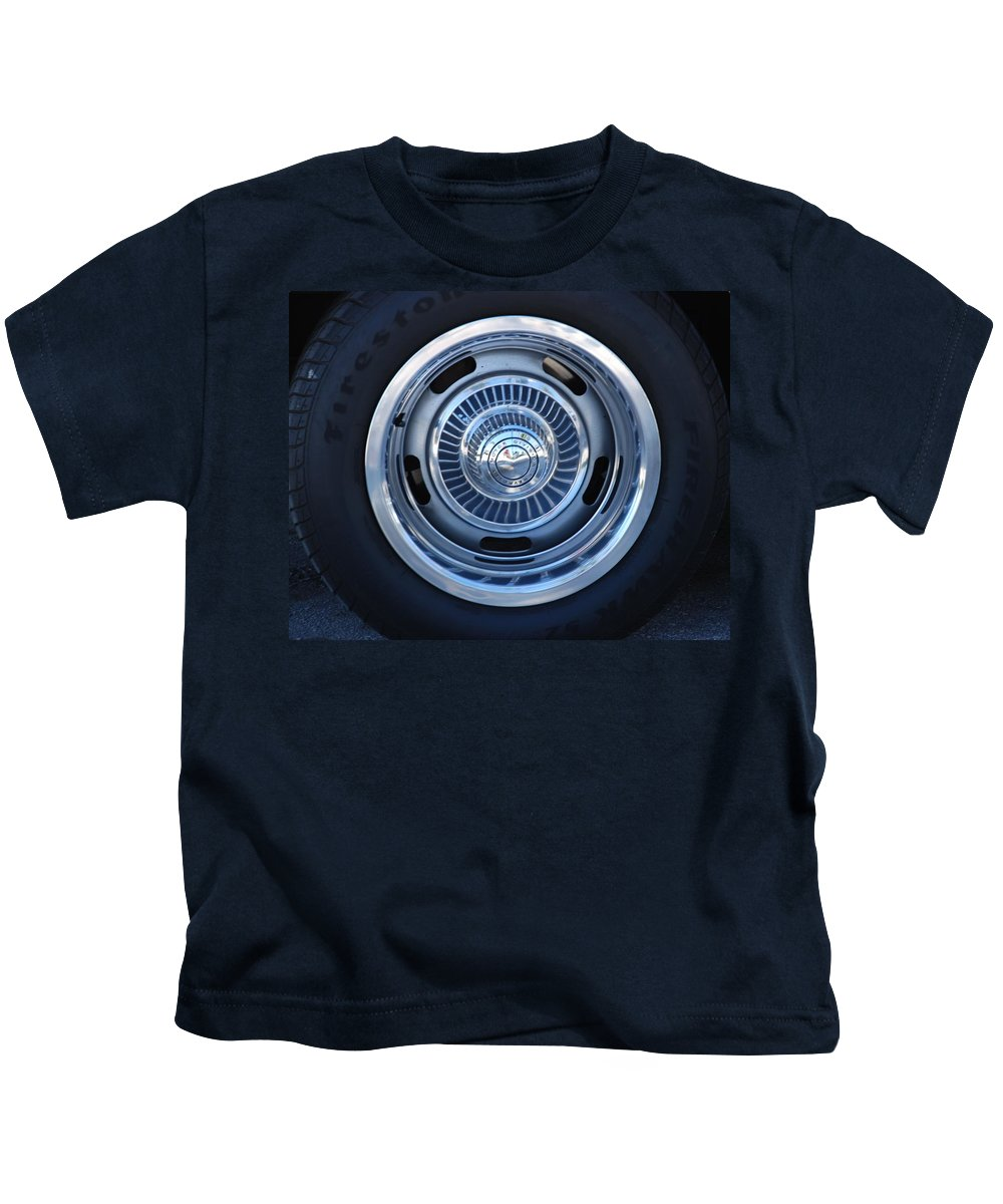 Corvette Kids T-Shirt featuring the photograph Vette Wheel by Rob Hans