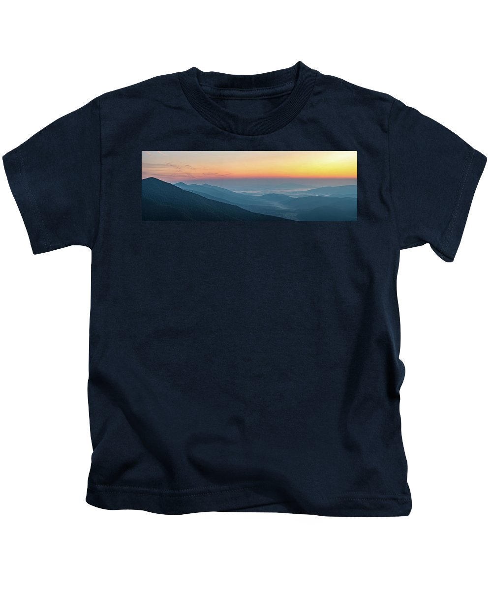 Kids T-Shirt featuring the photograph View From The Top by Steve Hammer