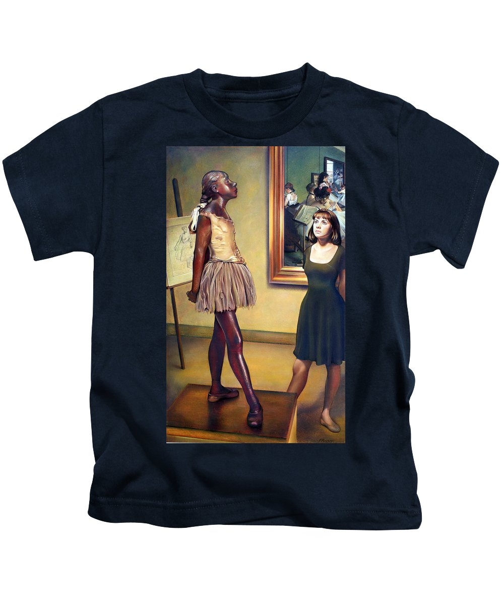 Edgar Degas Kids T-Shirt featuring the pastel Visit To The Museum by Patrick Anthony Pierson
