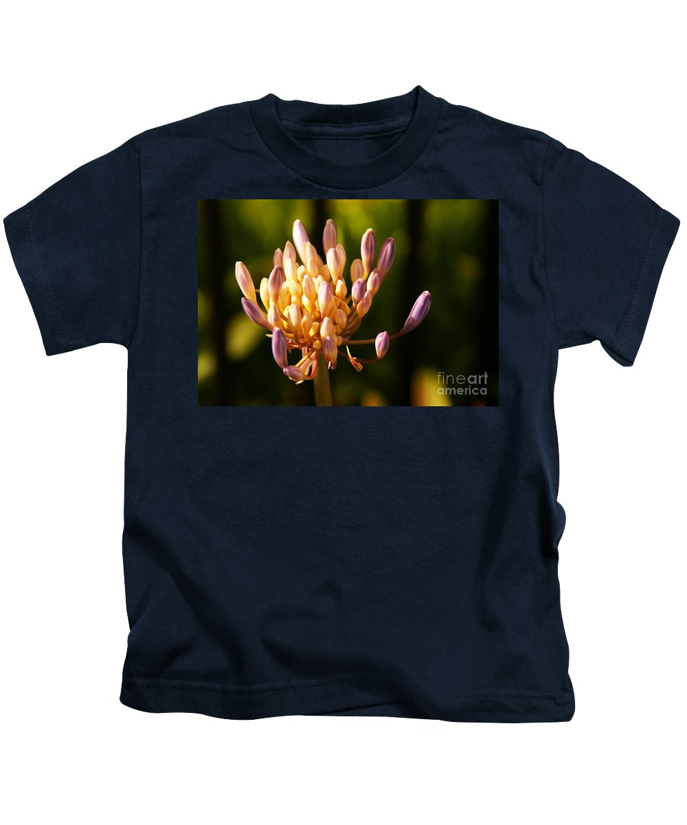 Flower Kids T-Shirt featuring the photograph Waiting To Blossom Into Beauty by Linda Shafer