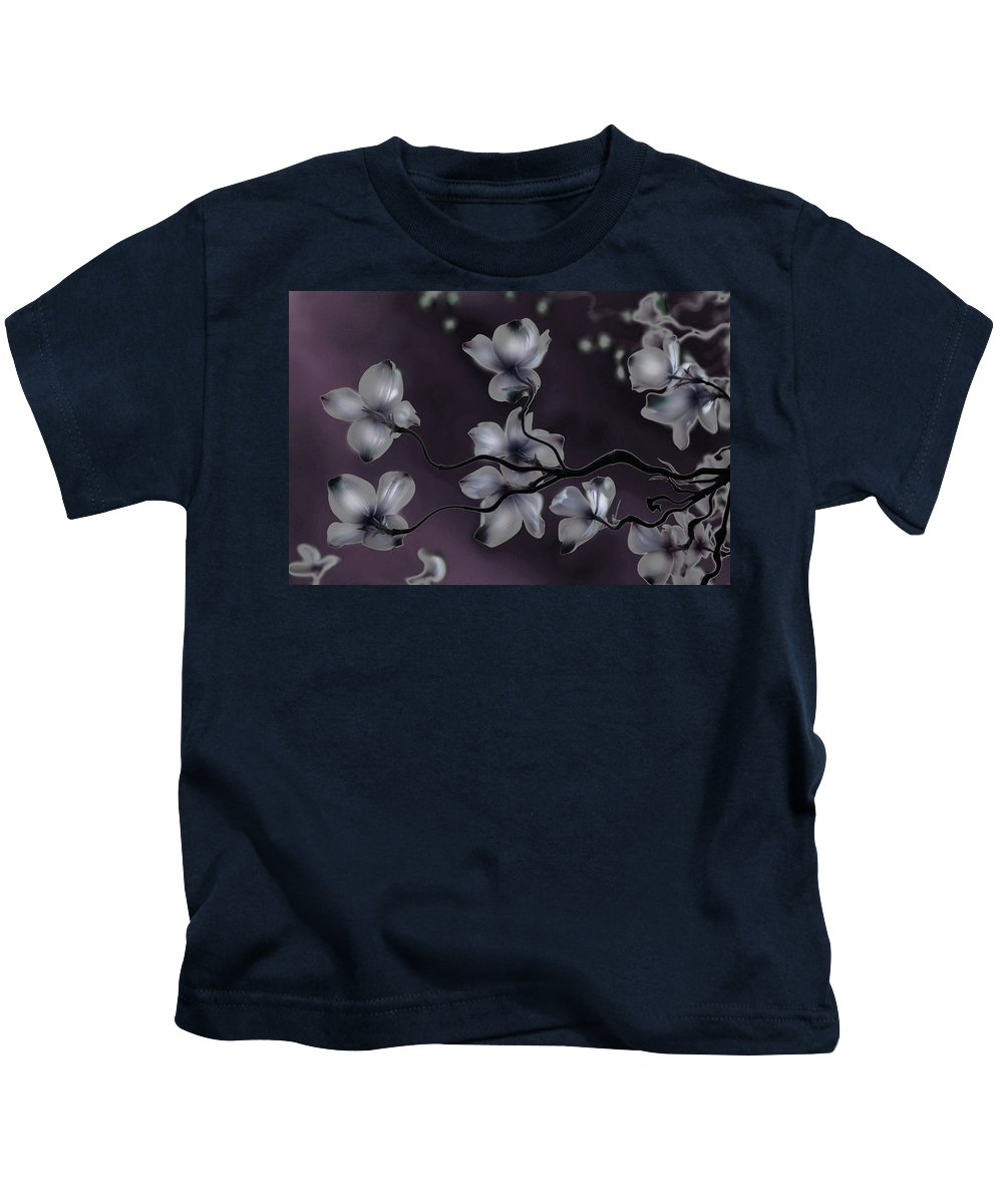 Dogwood Kids T-Shirt featuring the painting Wave Japanese Art by Gray Artus