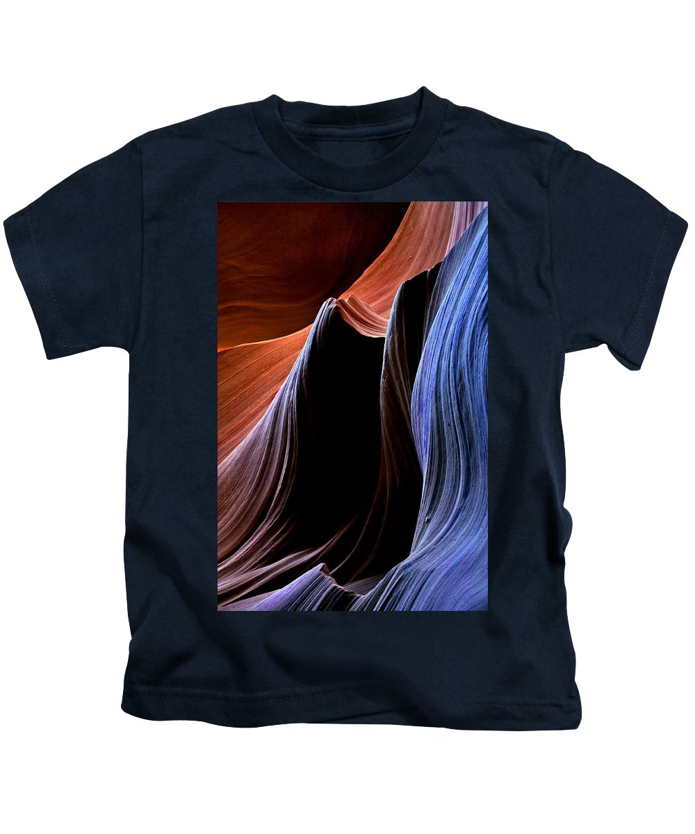 Sandstone Kids T-Shirt featuring the photograph Waves by Mike Dawson