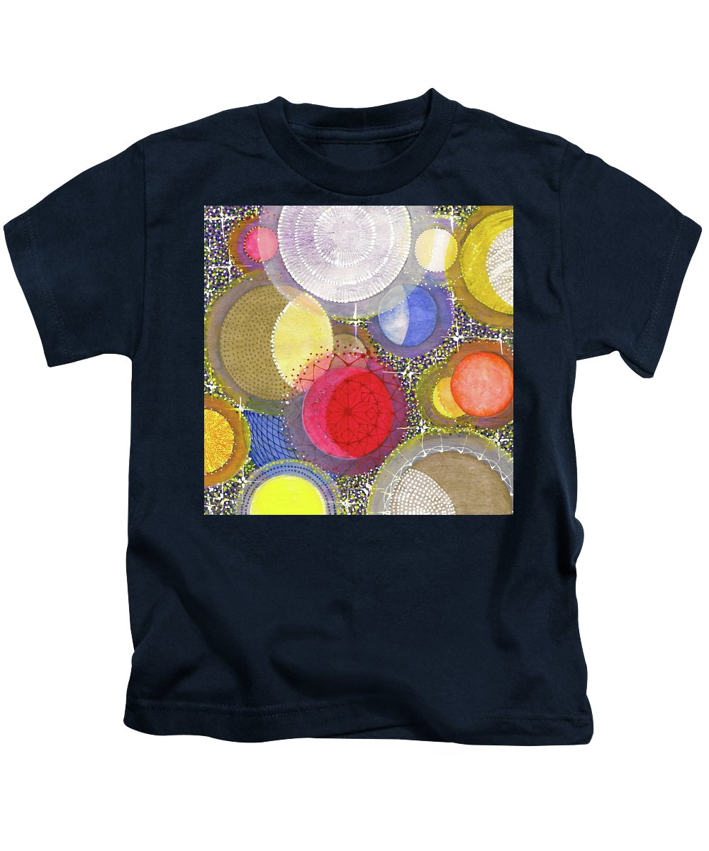 Moon Kids T-Shirt featuring the painting We Will Have Many Moons #2 by Kym Nicolas
