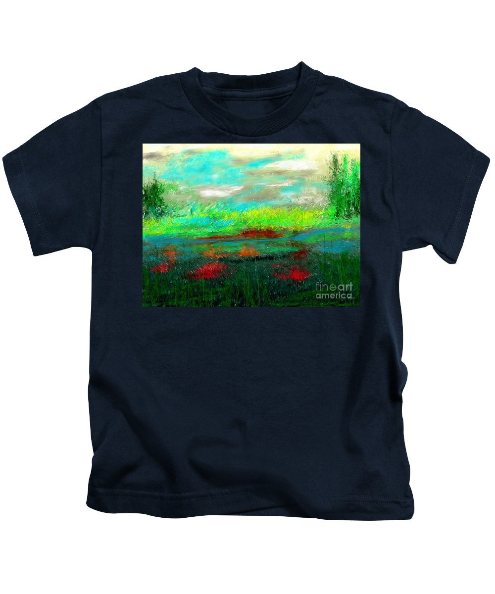 Nature Kids T-Shirt featuring the digital art Wetlands by David Lane