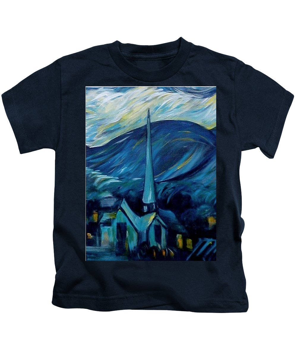 Spiritual Kids T-Shirt featuring the painting What The Children Learn by Melody Horton Karandjeff