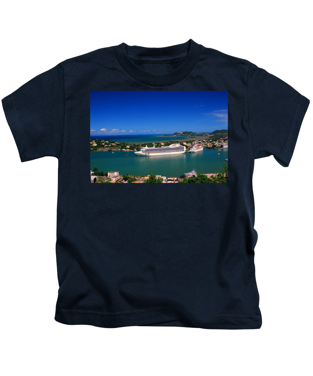 St. Lucia Kids T-Shirt featuring the photograph Where Are My People by Gary Wonning