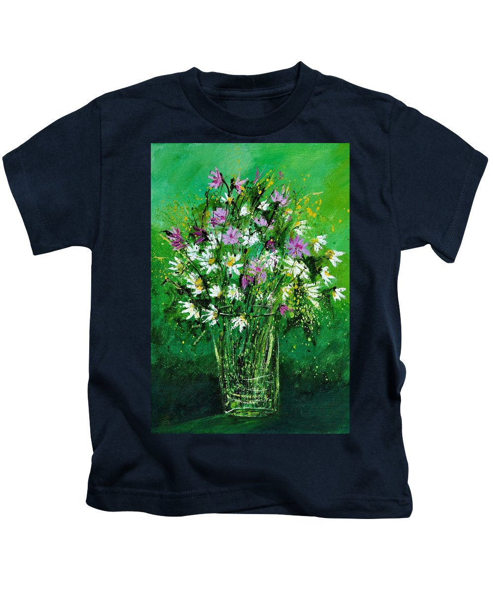 Flowers Kids T-Shirt featuring the painting Wild Flowers 450150 by Pol Ledent