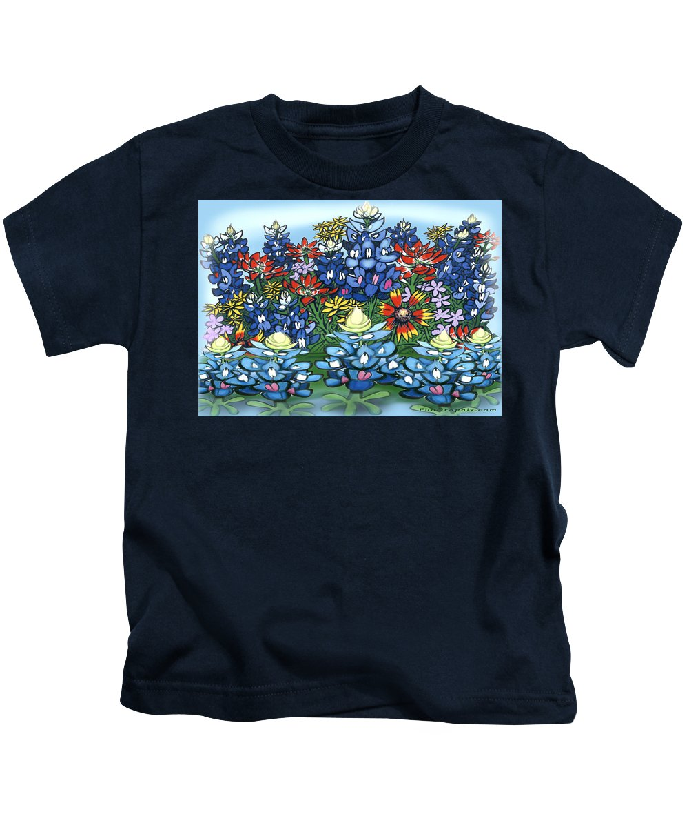 Wildflowers Kids T-Shirt featuring the digital art Wildflowers by Kevin Middleton
