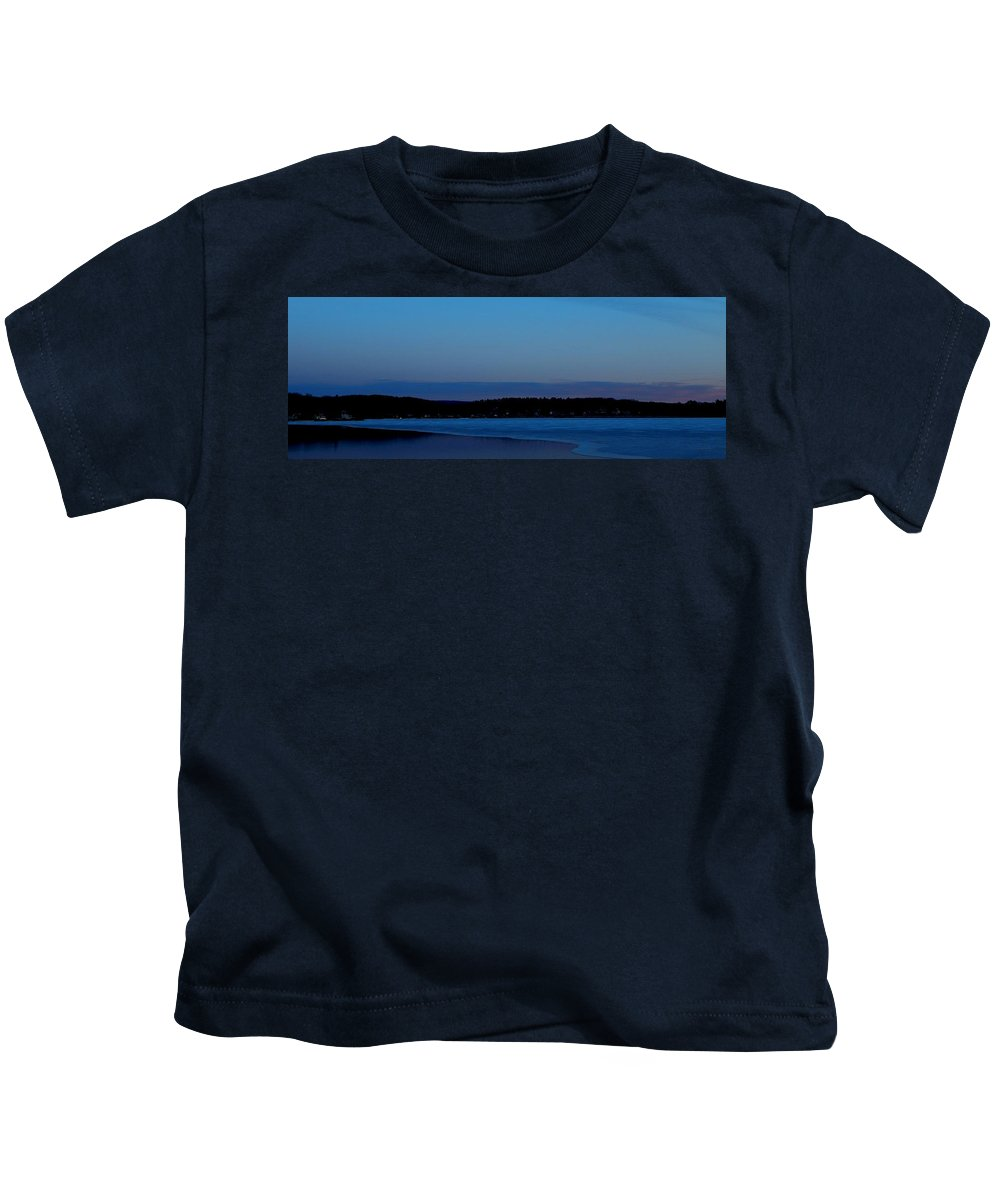 Blue Kids T-Shirt featuring the photograph Winter Blues by JoAnne Burgess