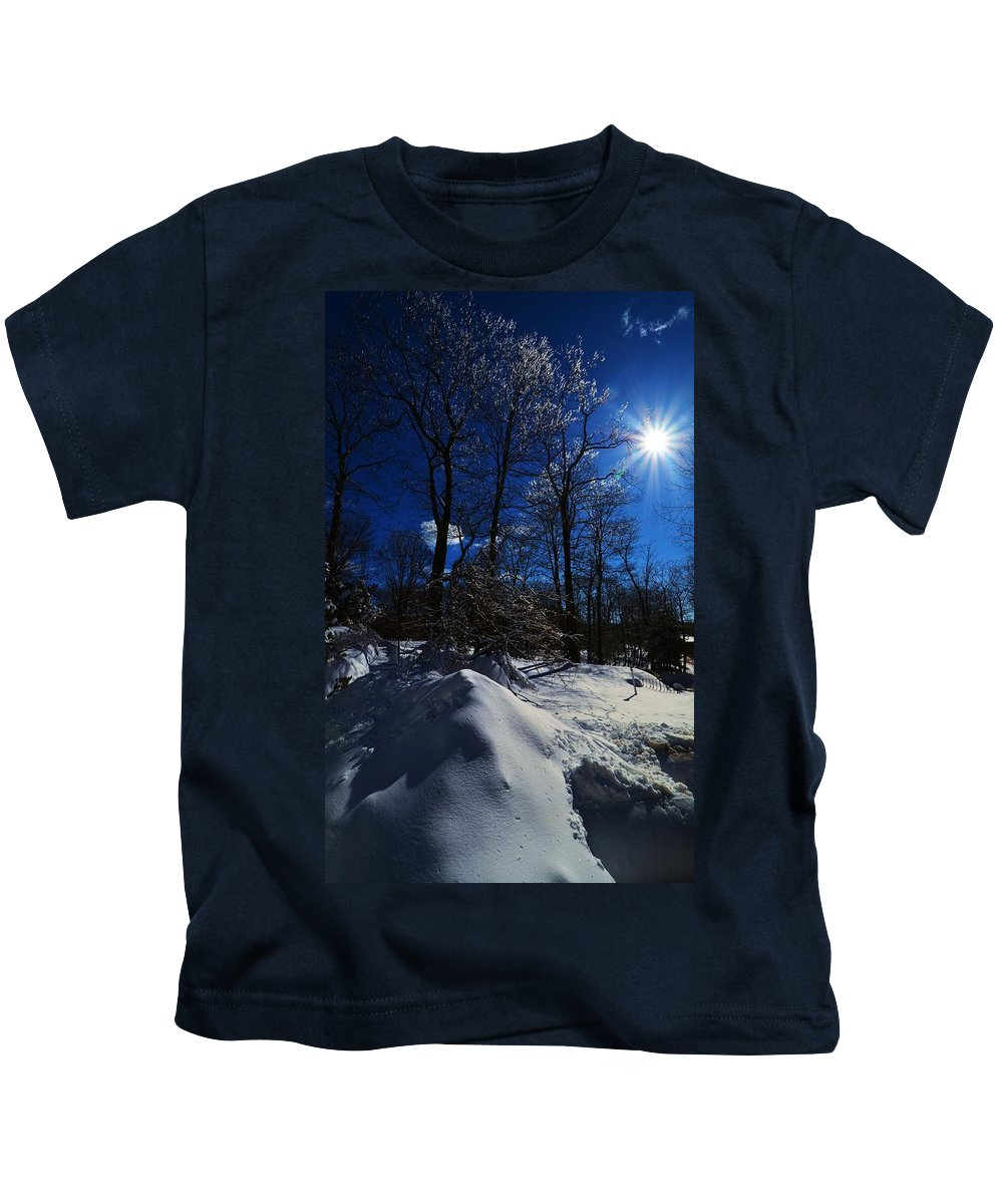 Winter Kids T-Shirt featuring the photograph Winter Solitude by Sean Jungo