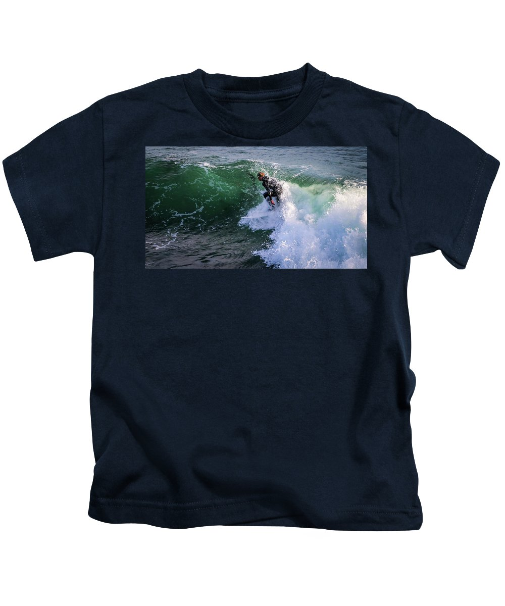 Kids T-Shirt featuring the photograph Wrapped In Santa Cruz, Ca by Janine Moore