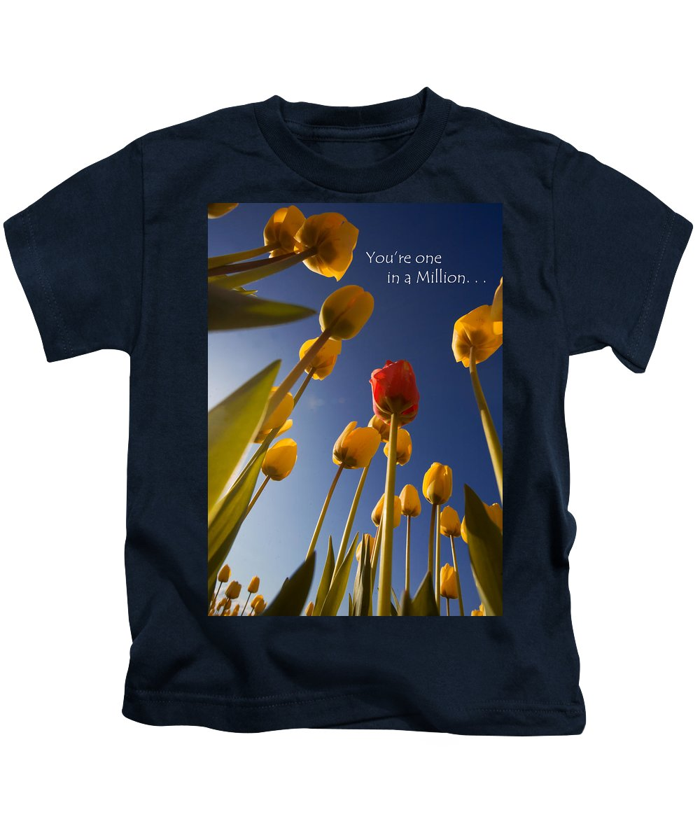 Flower Kids T-Shirt featuring the photograph You Are One In A Million by Karen Ulvestad