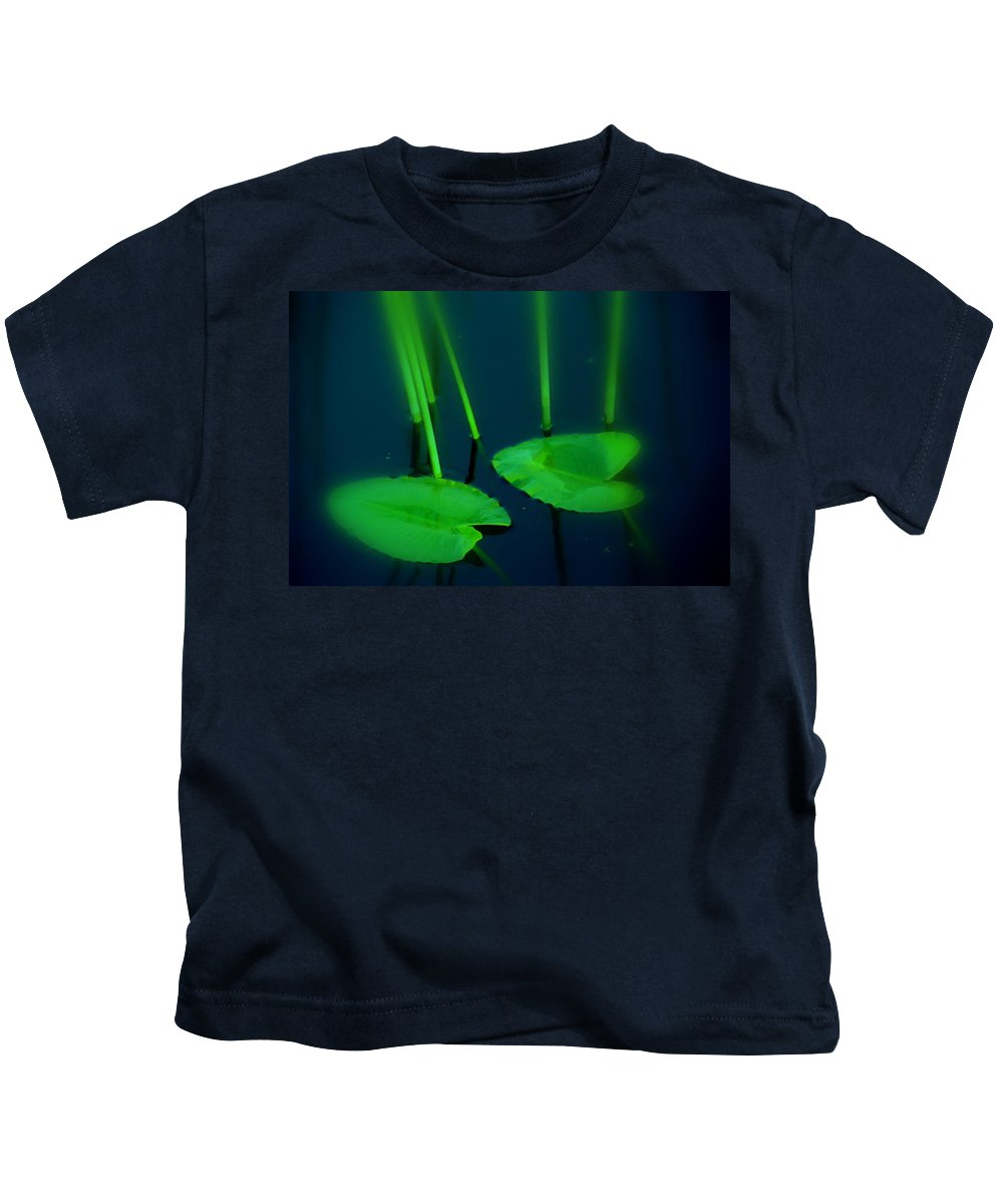 Zen Kids T-Shirt featuring the photograph Zen Photography Green by Susanne Van Hulst