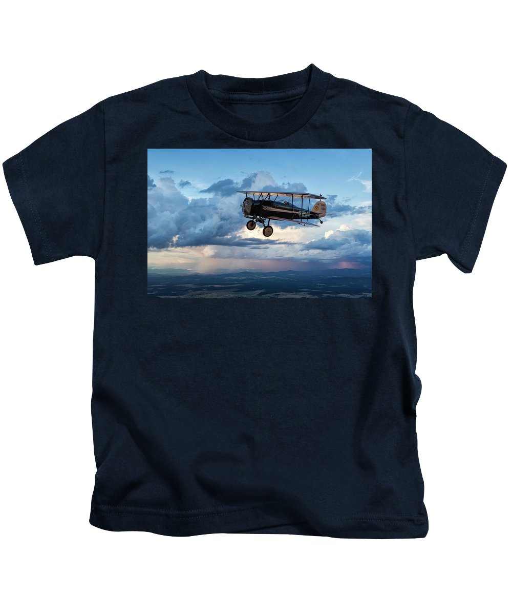 A2a Kids T-Shirt featuring the photograph Above It All by Jay Beckman