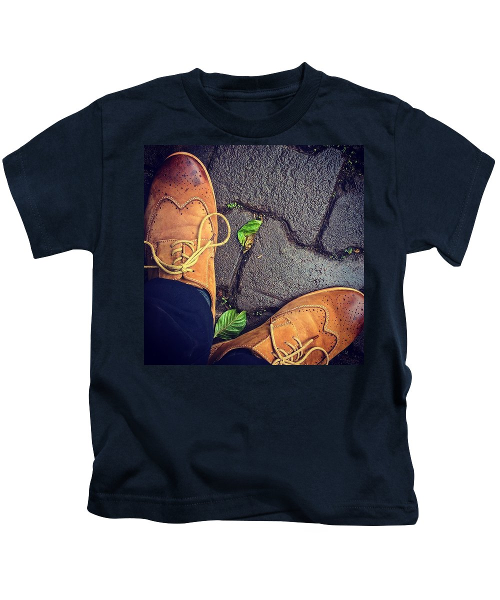 Shoes Kids T-Shirt featuring the photograph Afternoon delight by Mark Ddamulira