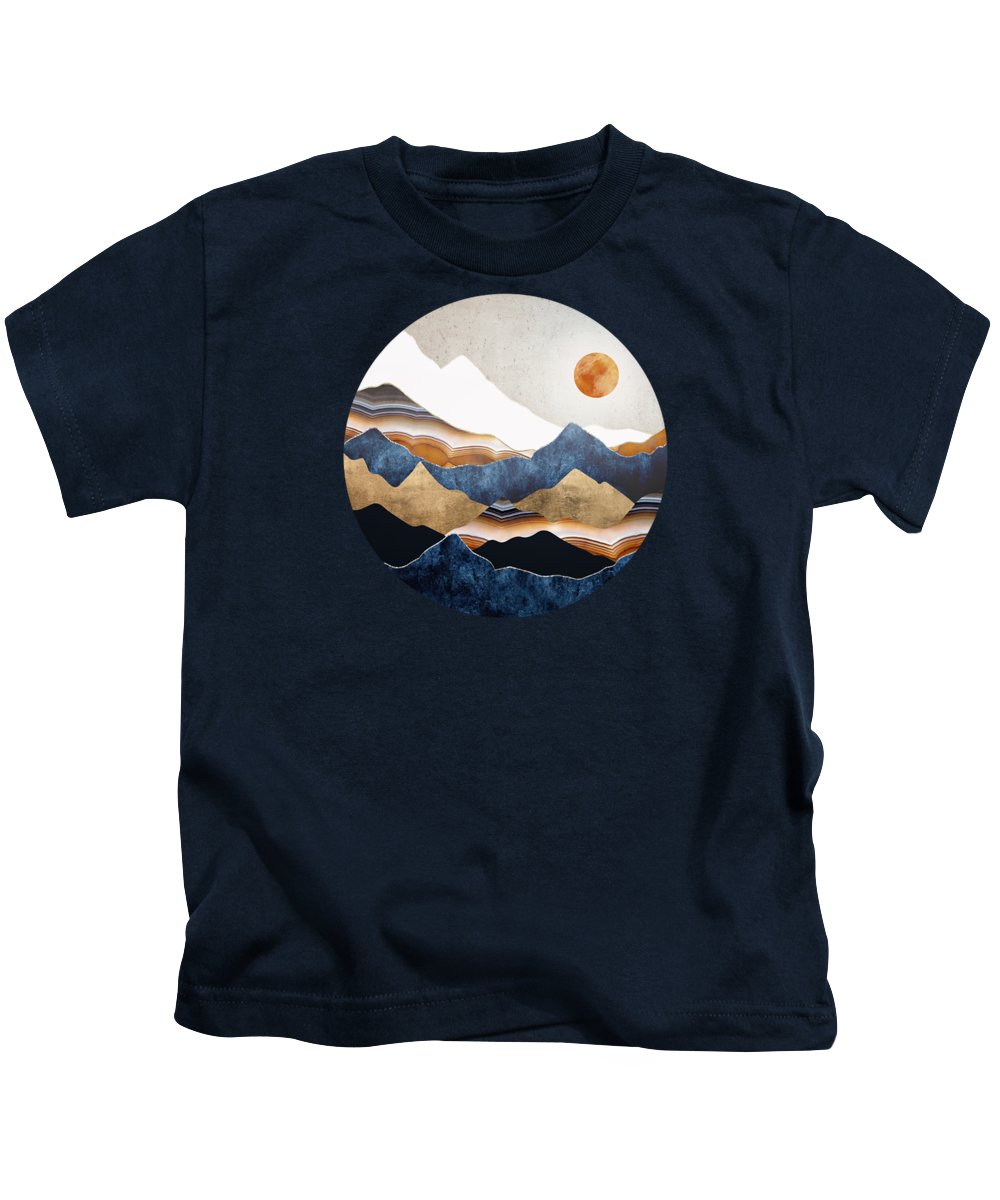 Amber Kids T-Shirt featuring the digital art Amber Sun by Spacefrog Designs