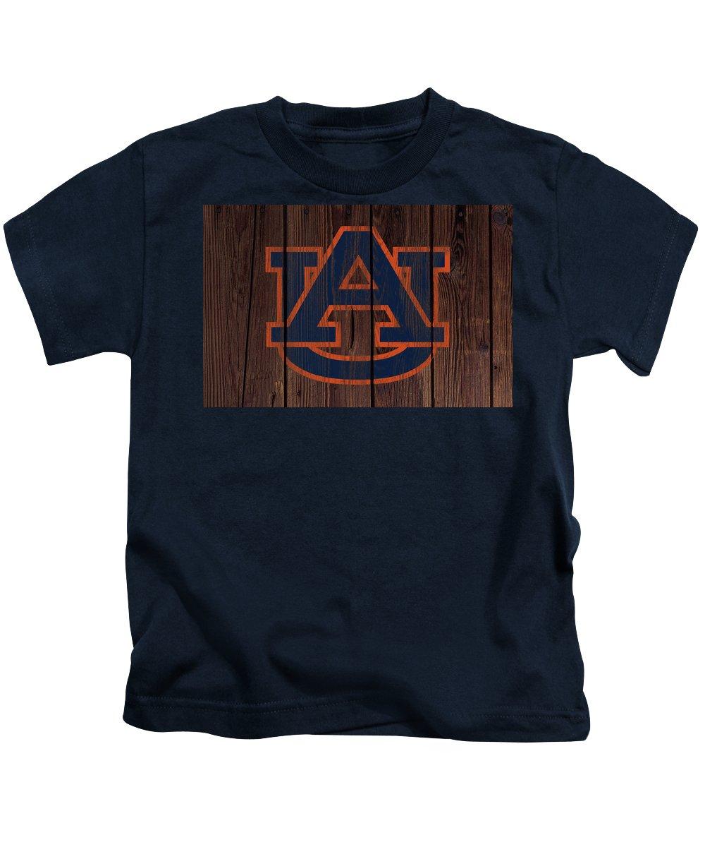 Auburn Tigers Kids T-Shirt featuring the mixed media Auburn Tigers 2w by Brian Reaves