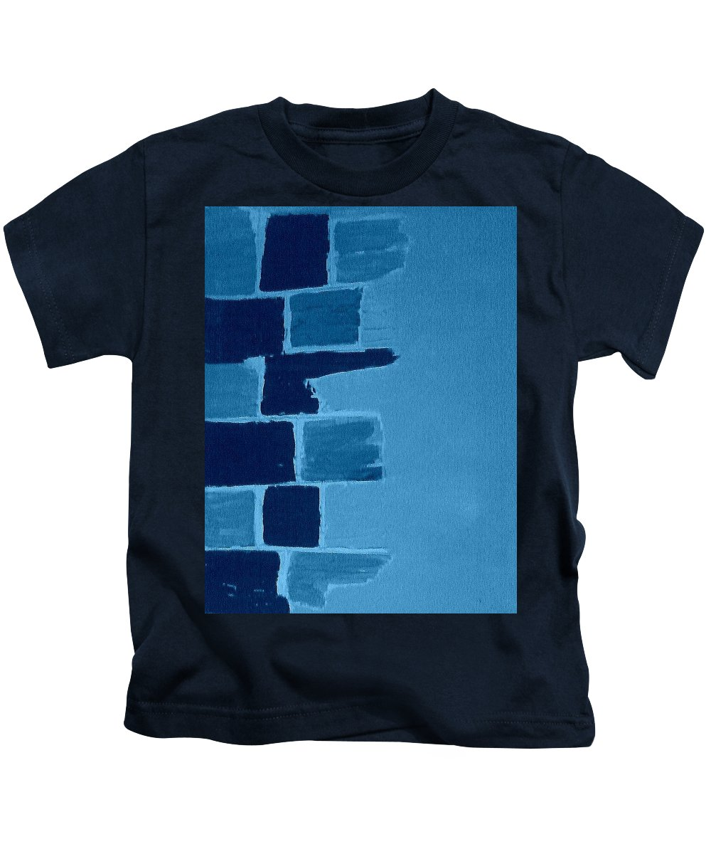 Acrylic Kids T-Shirt featuring the painting Create A Collage-3 by Erma L George