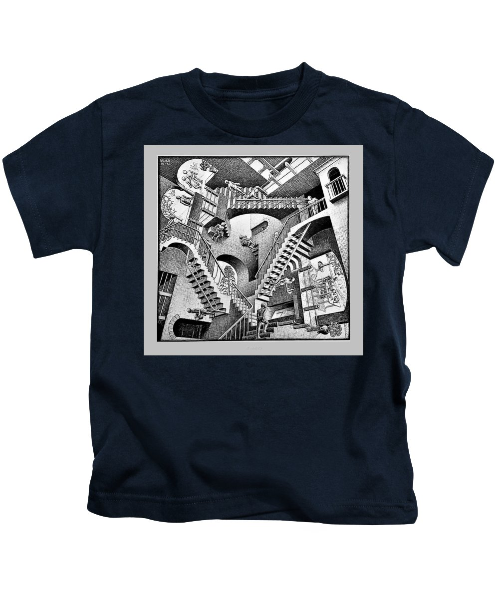 Maurits Cornelis Escher Kids T-Shirt featuring the photograph Escher 131 by Rob Hans