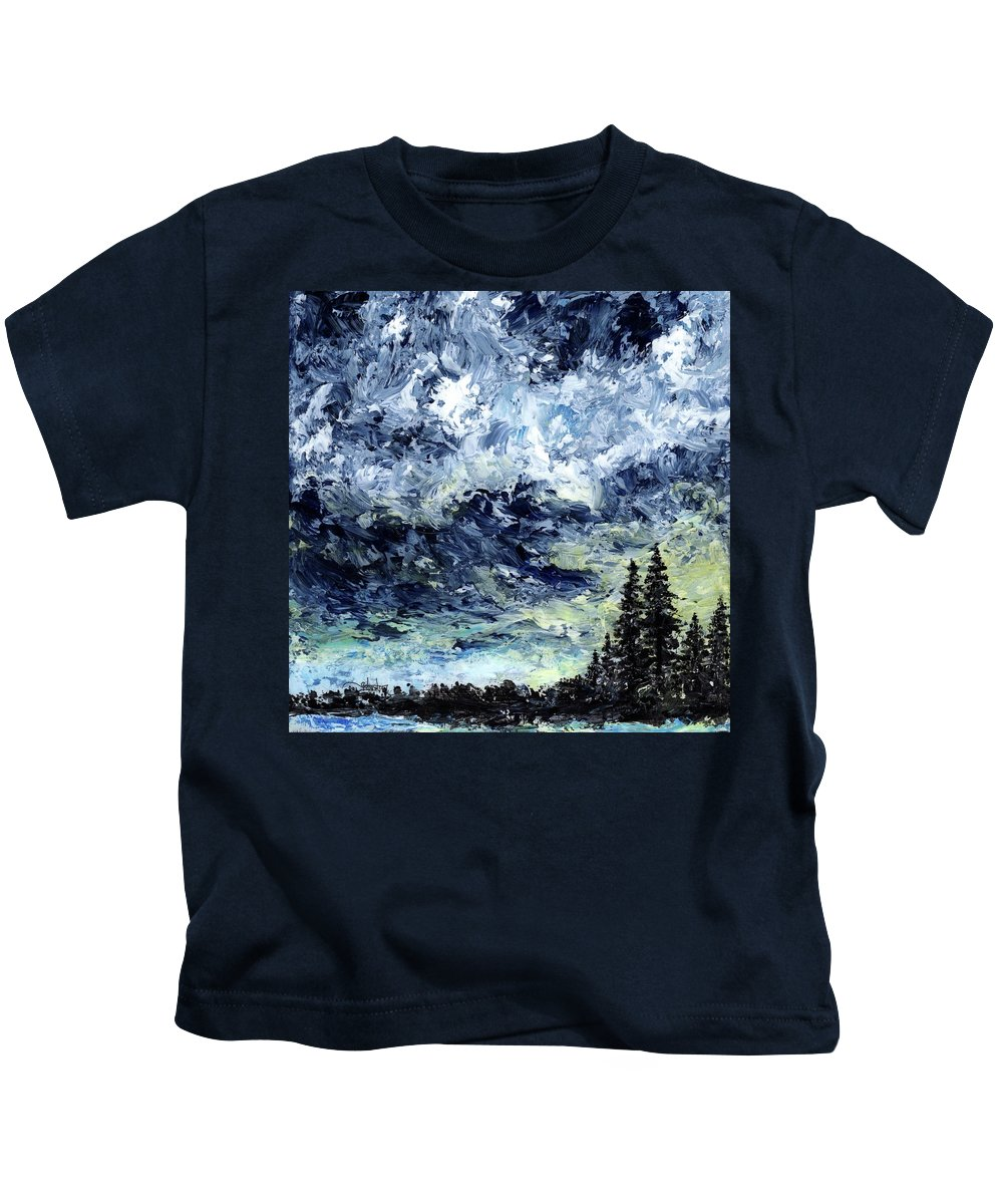 Moment Kids T-Shirt featuring the painting I Was Here For A Moment by Cindy Johnston