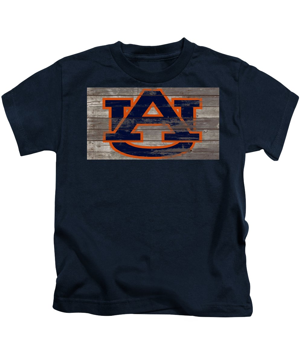 Auburn Tigers Kids T-Shirt featuring the mixed media The Auburn Tigers 5a by Brian Reaves