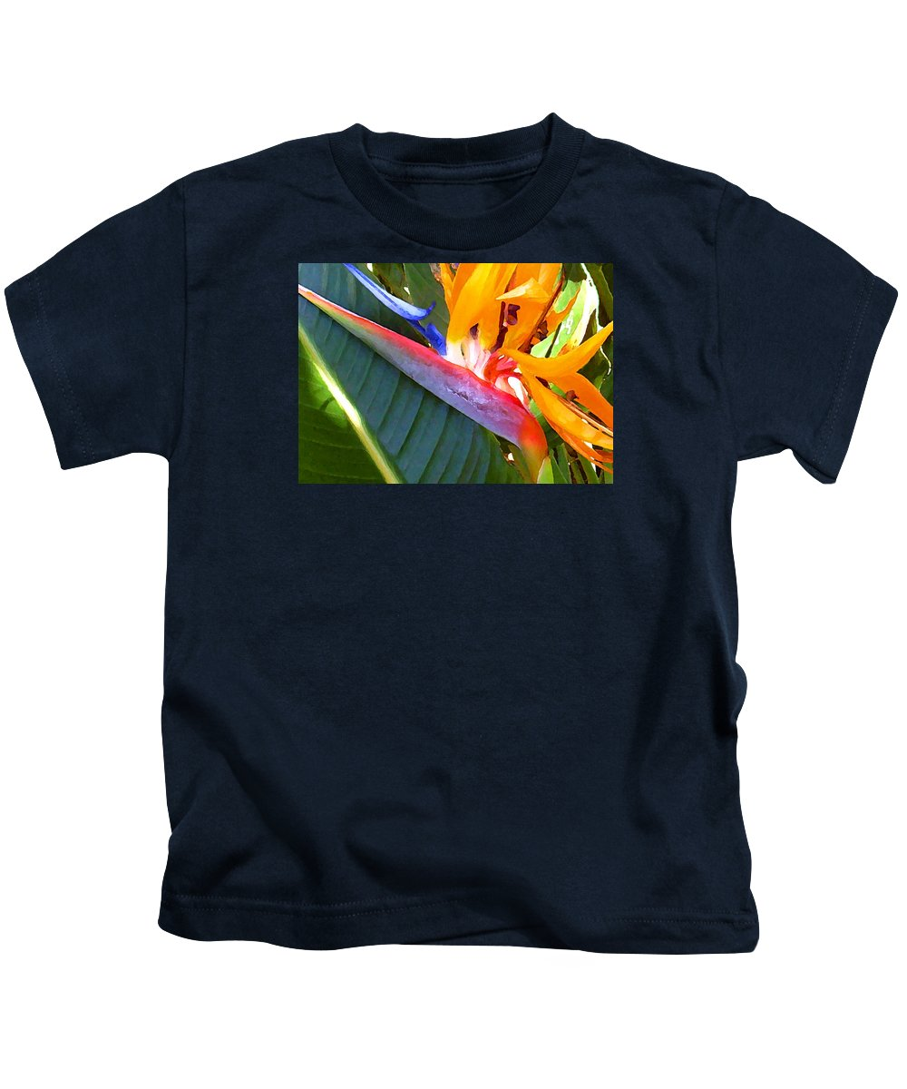 Hawaii Greeting Cards Kids T-Shirt featuring the photograph Bird of Paradise by James Temple
