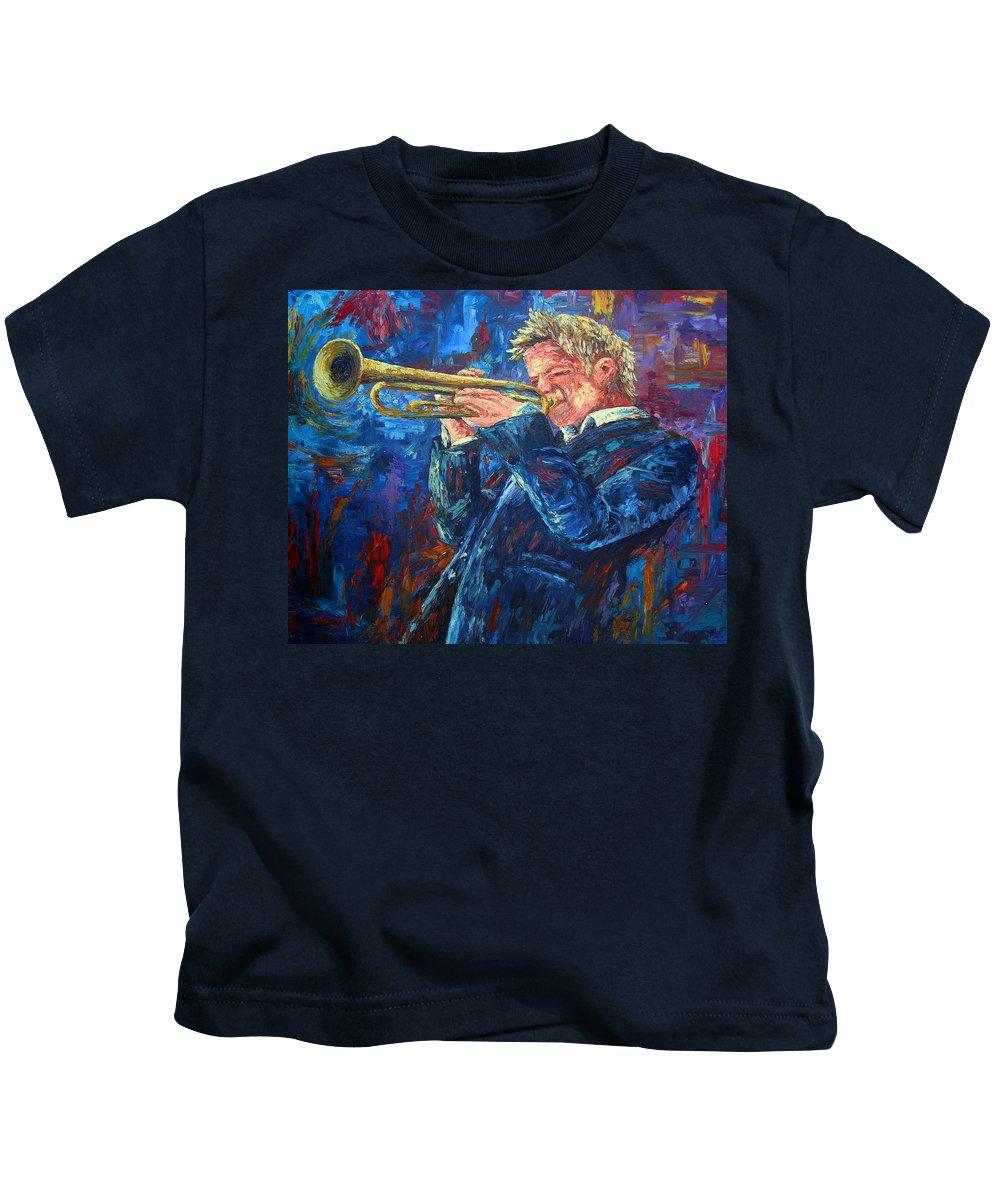 Jazz Kids T-Shirt featuring the painting Chris Botti by David G Paul