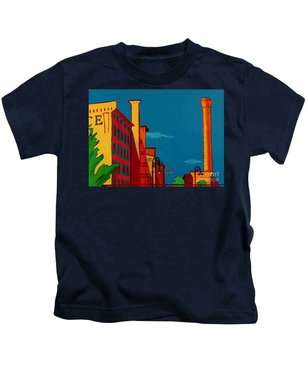 Landscape Kids T-Shirt featuring the painting Riverwalk by Debra Bretton Robinson