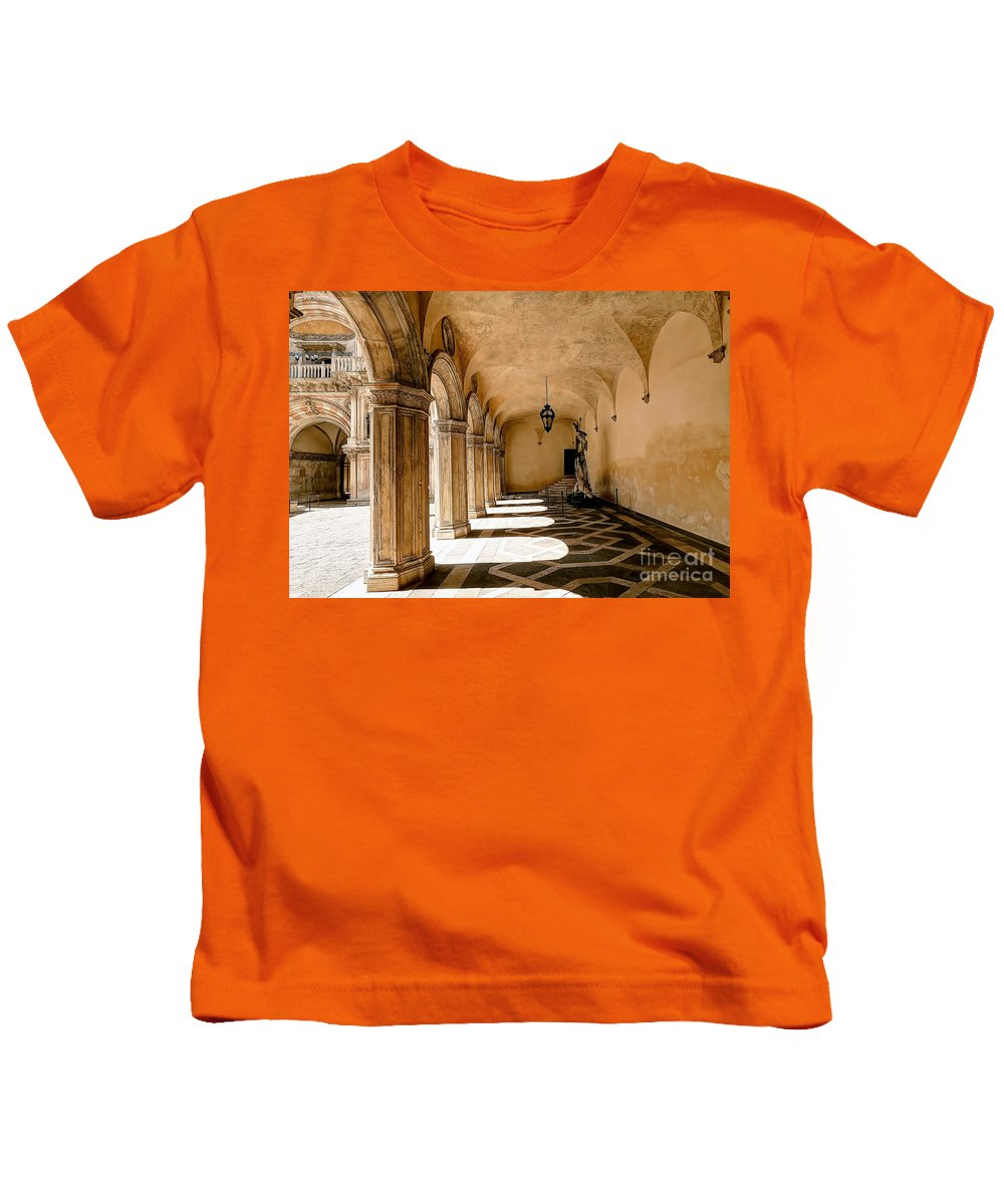 Doge Kids T-Shirt featuring the photograph 0758 Doge Palace - Venice Italy by Steve Sturgill
