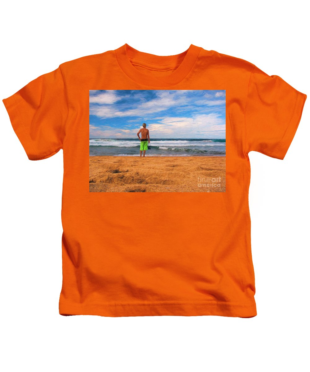 Surf Kids T-Shirt featuring the photograph Anticipation by Sheila Smart Fine Art Photography