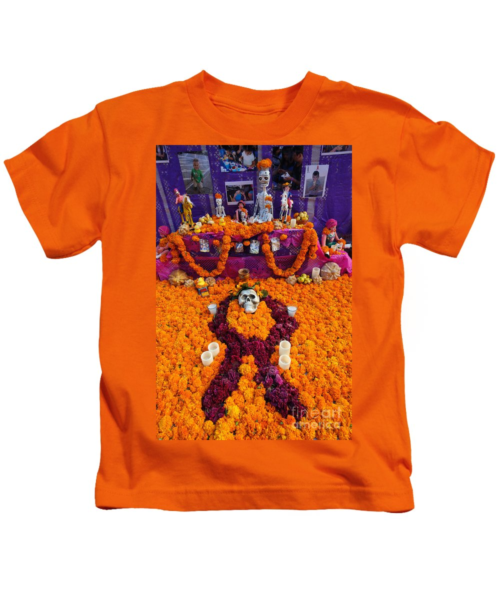 Travel Kids T-Shirt featuring the photograph Day Of The Dead Altar, Mexico by John Shaw