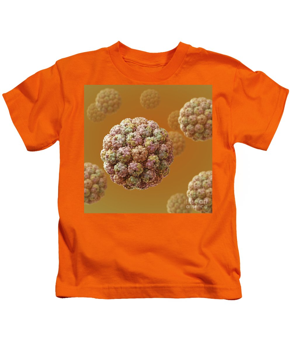Sickness Kids T-Shirt featuring the photograph Murine Polyomavirus by Science Picture Co